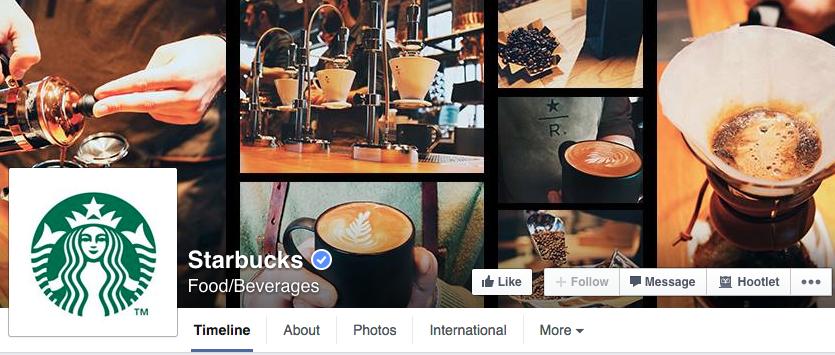 starbucks campaign facebook cover foto
