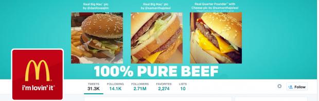 McDonald's Twitter cover photos
