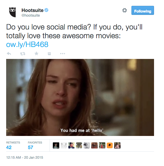 Movies for SMM Tweet - Twitter interaction rate