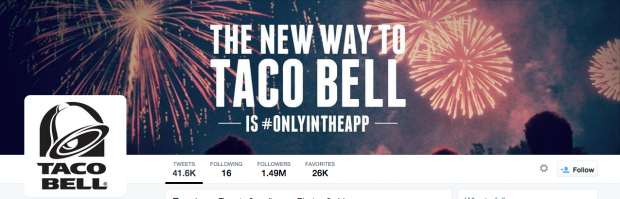 Taco Bell Twitter cover photos