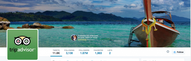 tripadvisor Twitter cover photos