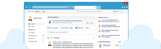 popular social networks like Yammer allow organizations to improve internal communication