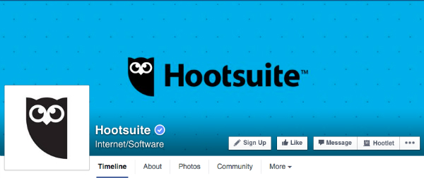 Hootsuite on FB types of social media