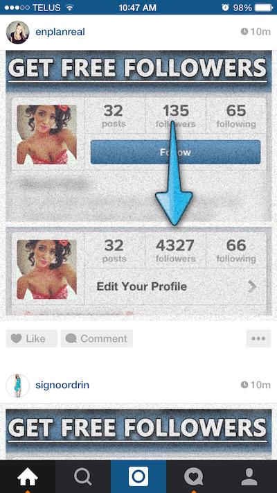 Instagram Spam