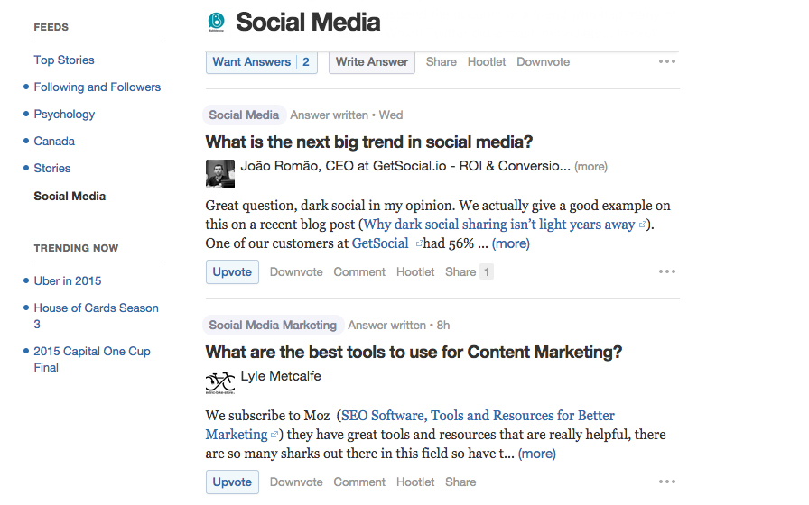 quora  helps you create buyer personas