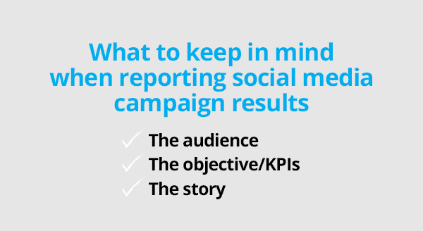 Social media reports - 3 elements of a report