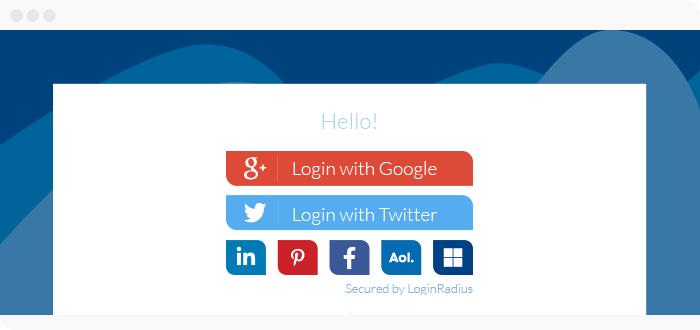 social media integration on your website should include social login