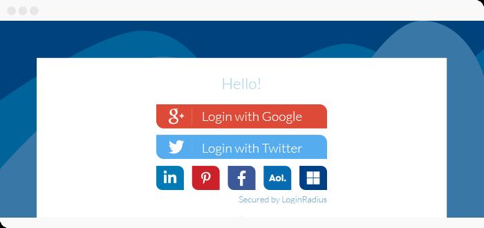 social media integration on your website should include social login