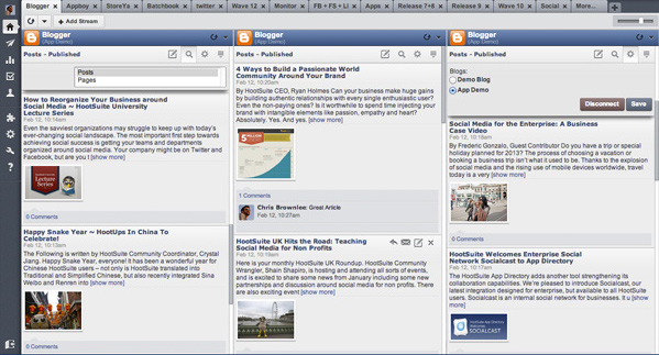 Blogger Content Management System