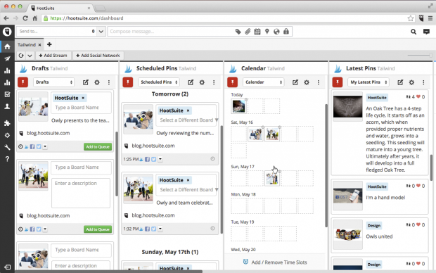 Tailwind for Hootsuite Pinterest strategy