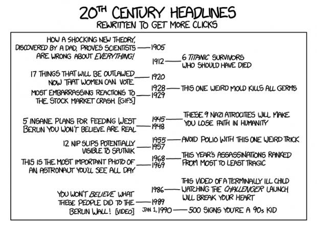 XKCD headlines