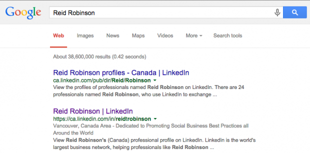how to be found on LinkedIn google search