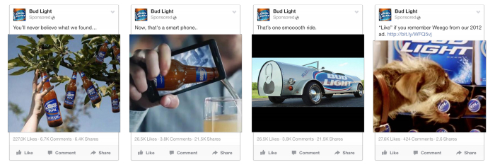 best Facebook ads Bud Light example