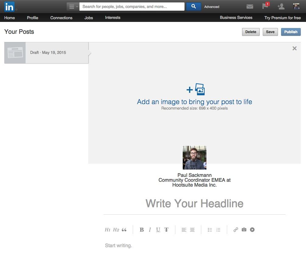 publishing linkedin