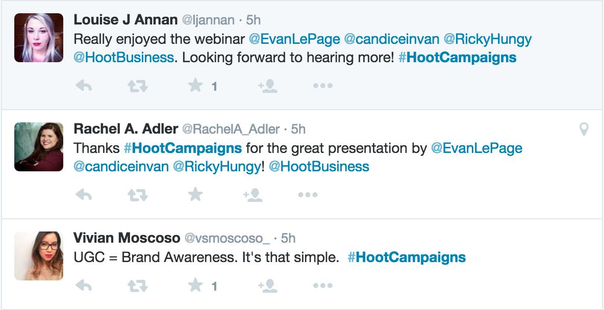 social marketing campaign #HootCampaigns chat