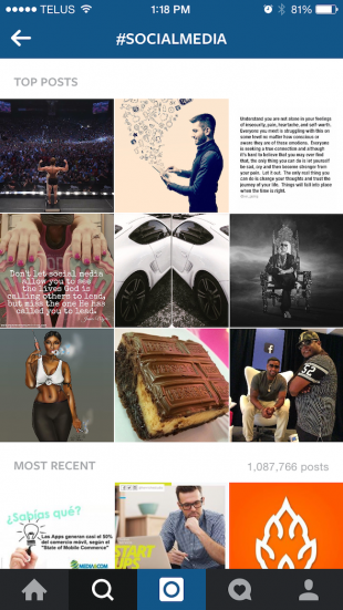 The Explore tab surfaces users you may want to engage