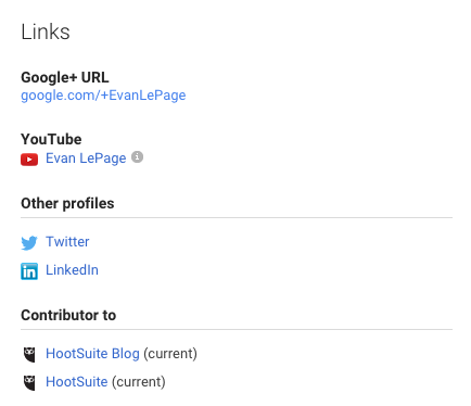 Google+ Links