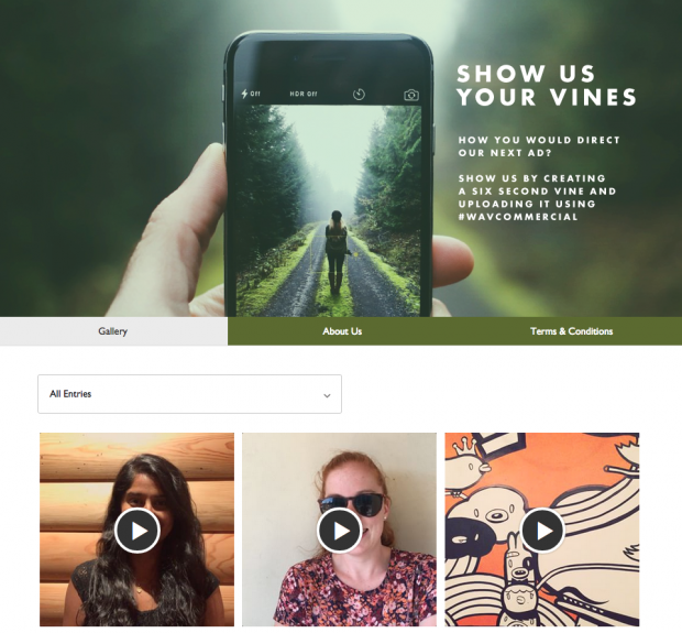 Vine Campaigns Screenshot