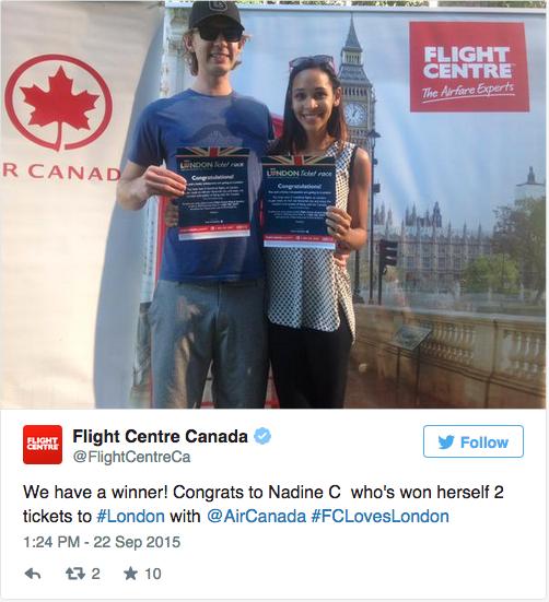 Flight Centre Screenshot Winner Nadine