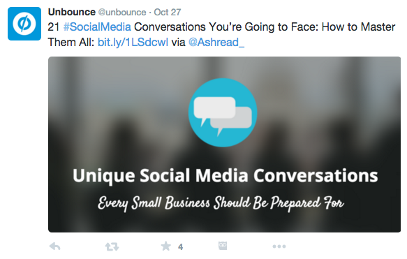 A great example from our friends at Unbounce