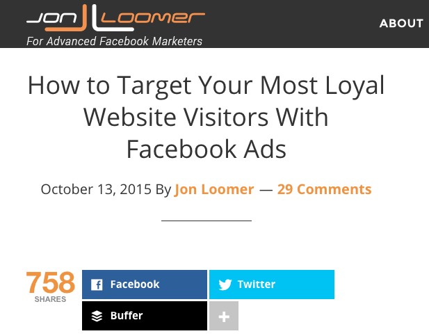 Jon Loomer - How to Target Your Most Loyal Website Visitors With Facebook Ads