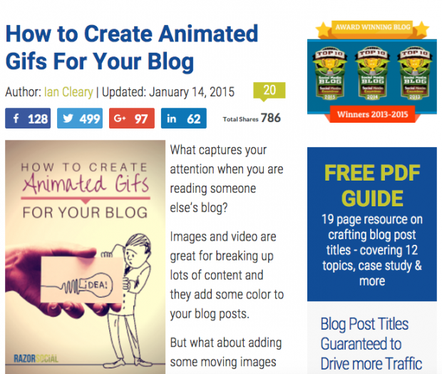 RazorSocial - How to Create Animated Gifs For Your Blog