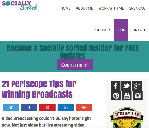 Socially Sorted - 21 Periscope Tips for Winning Broadcasts