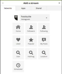 schedule instagram post on Hootsuite social media platform