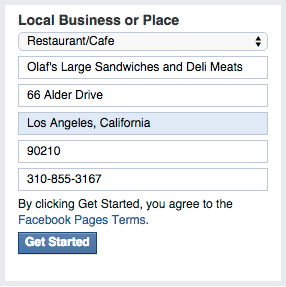 Business Address for Facebook Business Page