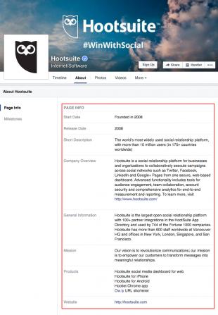 facebook description for social media and seo