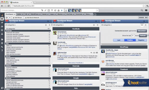 rankspeed tab for a better and more manage social media account