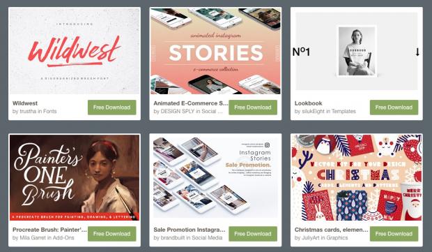 social media image ES: Creative Market es una Herramientas de Diseño para tu branding personal