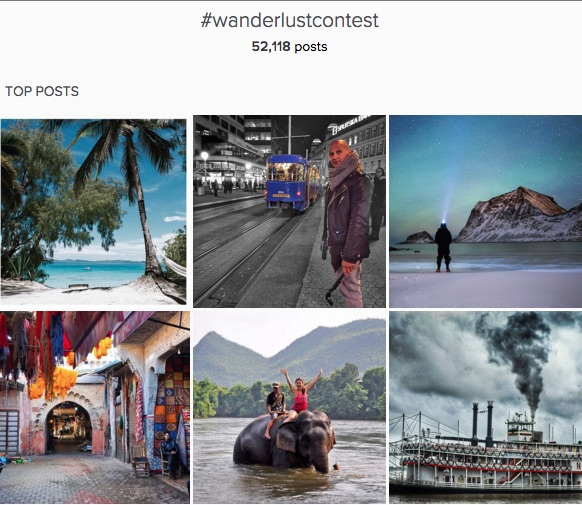 National Geographic wanderlust contest for user generated content