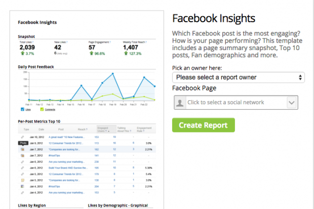 facebook insights via hootsuite