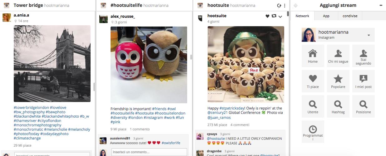 Monitora la concorrenza sui social media con Hootsuite 5