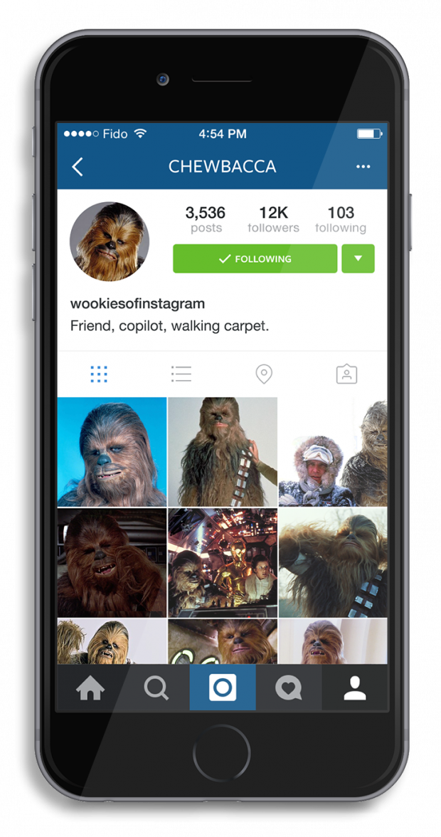 What it Would Look Like if Chewbacca Used Instagram | Hootsuite Blog