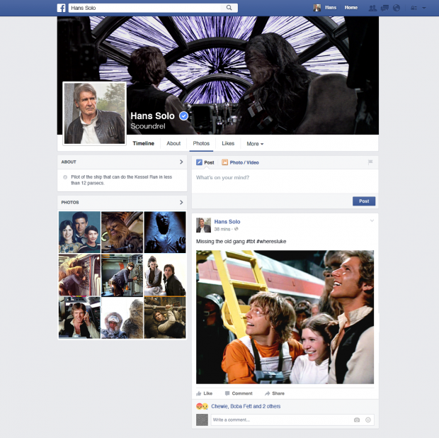 What it Would Look Like if Han Solo Used Facebook | Hootsuite Blog