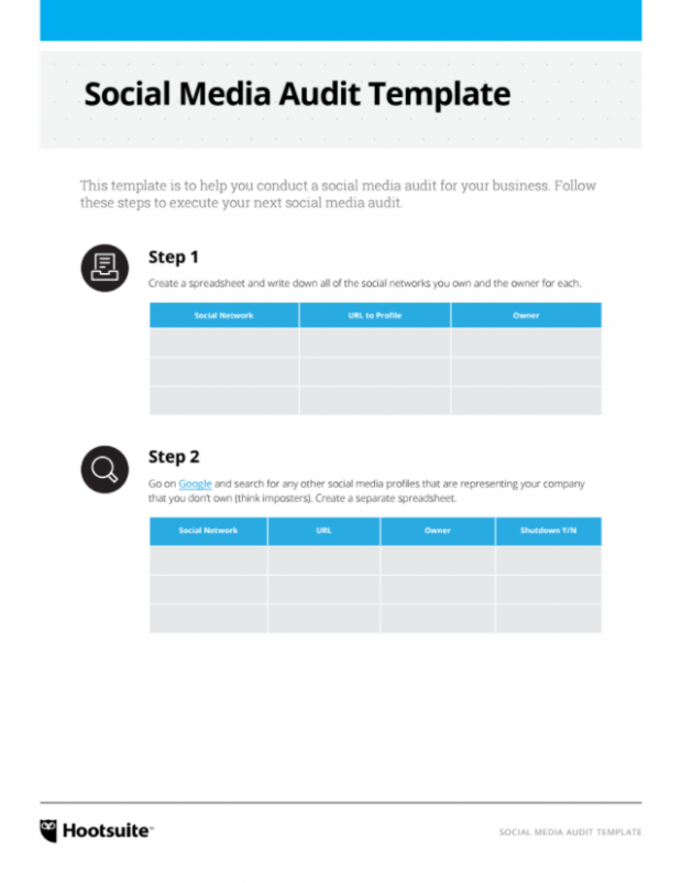 audit follow up template - how to create a social media marketing plan in 6 steps