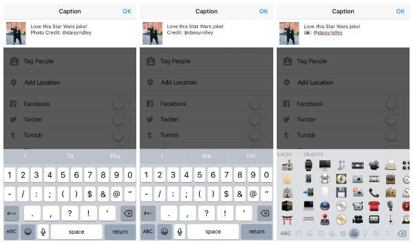 Añade carácter a tus publicaciones y repost en Instagram con una buena descripción y emojis