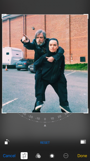Repost en Instagram muy a la Star Wars