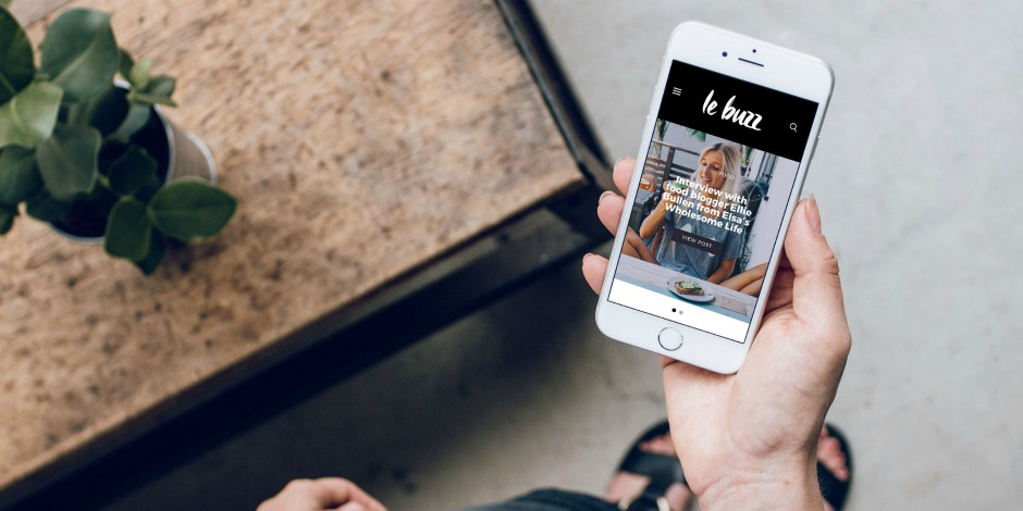 social media takeover on smartphone by Le Buzz