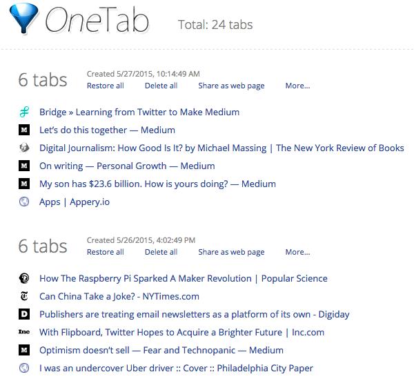 Best-Google-Chrome-Extensions-OneTab-Screenshot