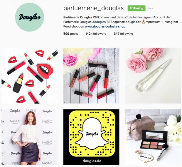 Unternehmen auf Instagram - Douglas