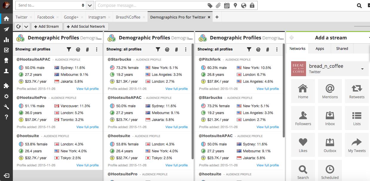 demographics hootsuite