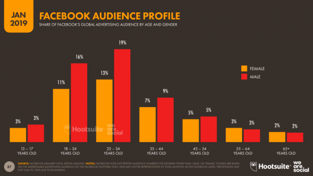 La audiencia de FAcebook