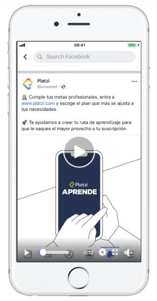 Publicidad en redes sociales con los anuncios en video