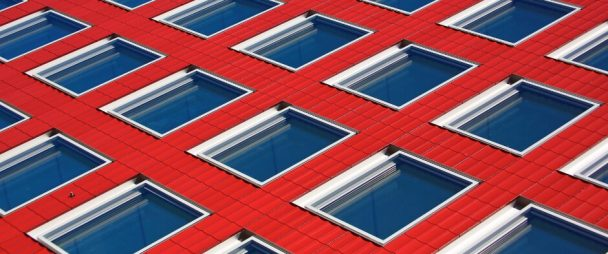 red white building windows