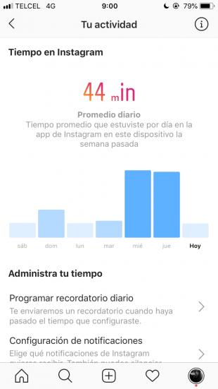 Consejos de Instagram para Revisa cuánto tiempo has pasado en Instagram
