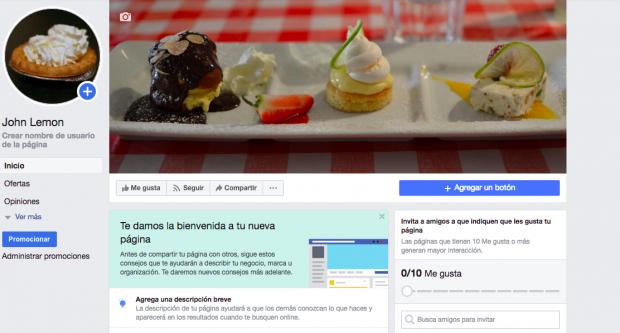 Página de facebook - Utiliza todos los campos de información de tu página de Facebook