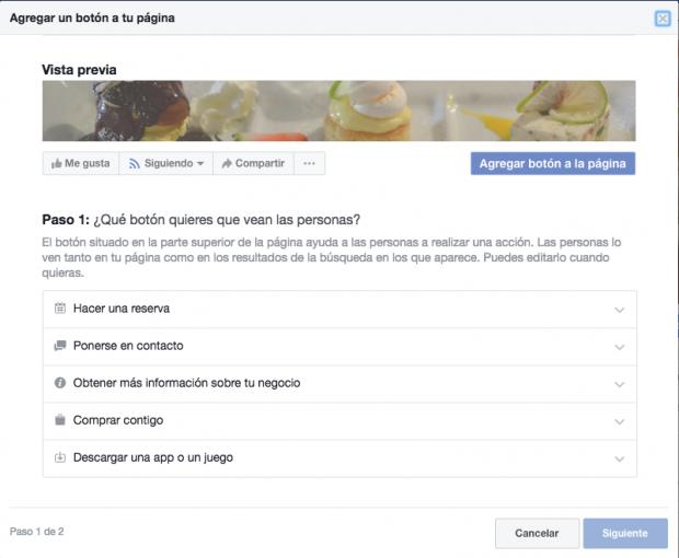 Página de facebook - Cómo agregar un botón a mi página de Facebook
